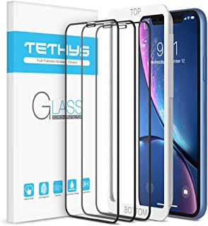 """TETHYS Glass Screen Protector Designed for iPhone 11 / iPhone XR (6.1"""") [Edge to Edge Coverage] Full Protection Durable Te..."""