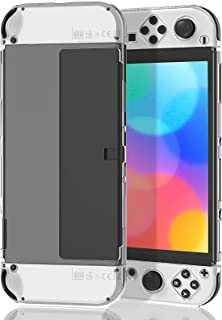 Case for Nintendo Switch OLED Model, MENEEA Clear PC Hard All-Round Protective Cover Shell for Joy-Con OLED & Console, Ant...