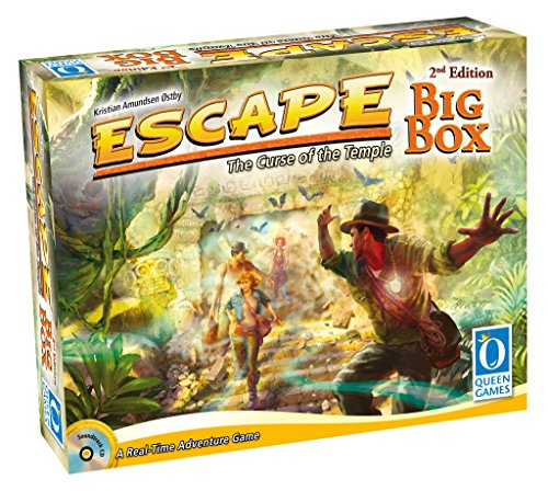 Queen Games 10353 - Escape Big Box 2nd Edition - Basisspiel mit allen Erweiterungen und Queenies