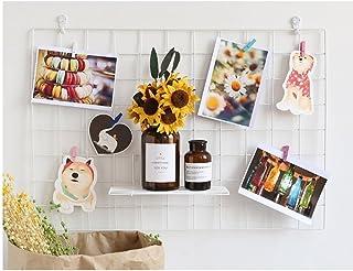 ShouYu Panel de pared para fotos, panel de rejilla multifunción, organizador de tableros, Blanco 65, 65×45