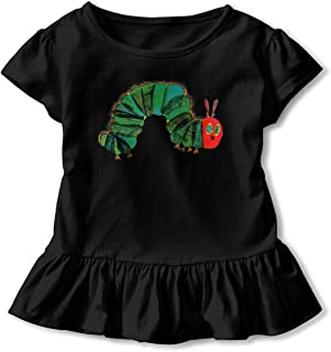 Baby Girls Dresses Lovely Ruffled Skirt for Baby Girls Print with The Very Hungry Caterpillar