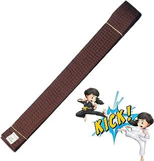 Idealcoldbrew A2 - Preshrunk Fabric BJJ Gi Belt, Brown Brazilian Jiu Jitsu Belt for Adults and Kids, Lightweight Judo Belt for Training and Competition