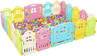 Large Baby Playpen Kids Activity Center18 Interactive Play Panels Baby Playpen Indoor Safety Baby Fence with Shapes Safety Play Yard