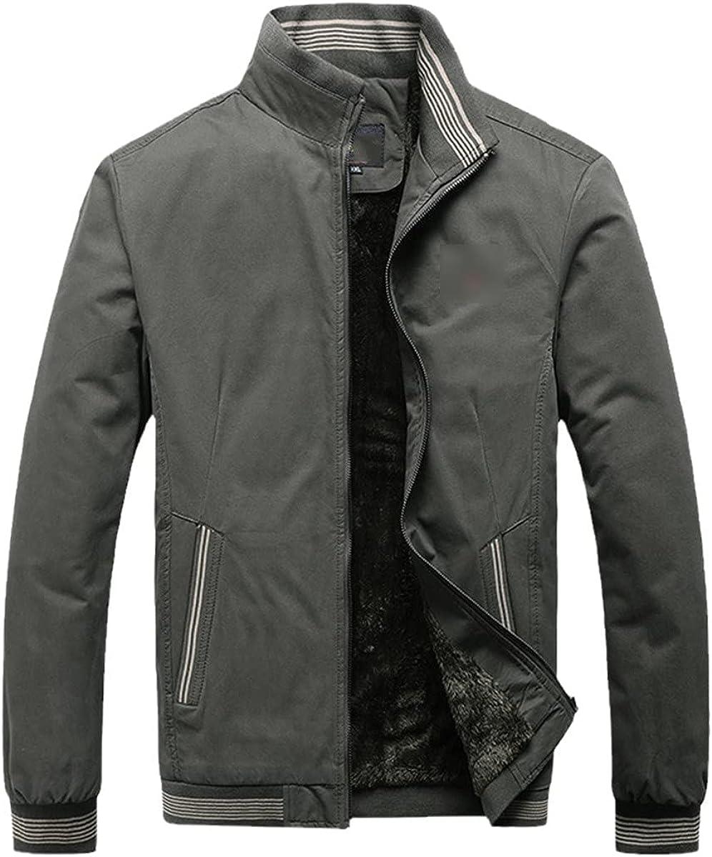 Autumn Men's Jacket Casual Solid Color Fashion Retro Warm Vest Jacket Winter Jacket