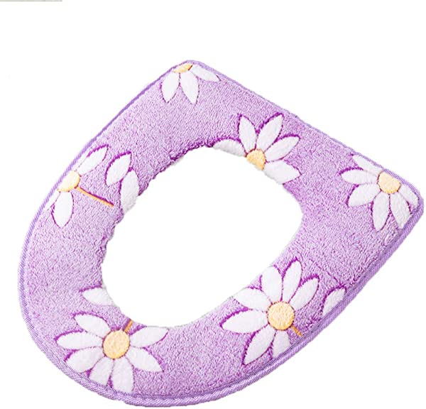 GJJ Toilet Seat Cushion Waterproof Household Toilet Stickers Cushions Paste Toilet Cushions Purple A