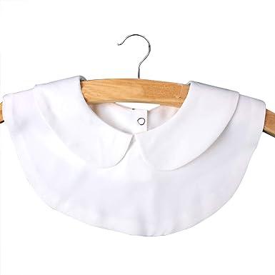 Vococal Cuello Falsos Mujer, Cuello Camisa Desmontable, Gasa ...