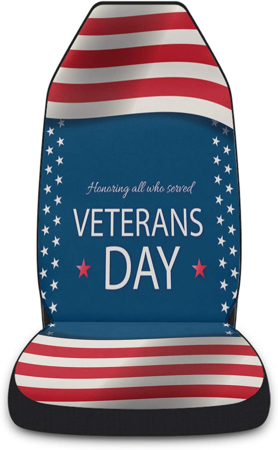 Cloud Free Shipping Cheap Bargain Gift Dream Home Car Ranking TOP9 Seat Covers Veterans America Day Front Flag