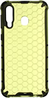 Beehive Hard Back Cover With Silicone Edges For Samsung Galaxy M30 - Lime Green Black