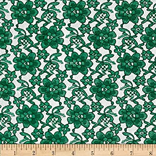 Ben Textiles Raschelle Lace Fabric, Hunter, Fabric by the yard