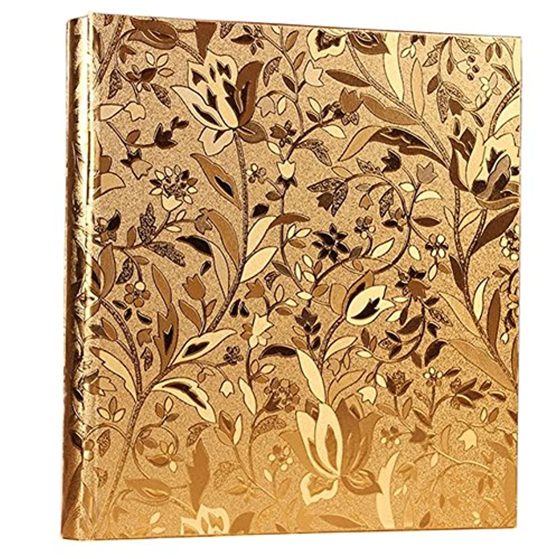 Nizzco Leather Frame Cover Photo Album 600 Pockets Hold 4x6 Photos(Gold)