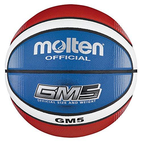 Molten Top Training Basketball Größe 5, Rot/Weiß/Blau, 5