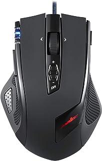 Perixx MX-2000ll Ratón Laser Gaming - Avago 5600DPI ADNS-9500 Laser Sensor - 8 Botones programables - Omron Micro Switches