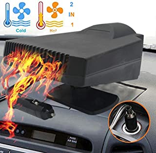 Car Heater - 2 in 1 Portable 12V 200W High Power Fast Heating & Cooling Fan Defrost Defogger, for Automobile Windscreen