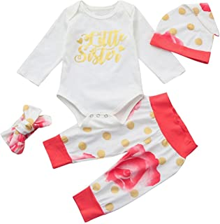 Dreamyth Newborn Infant Baby Girl Letter Romper Tops+Pants Halloween Outfits Clothes Set