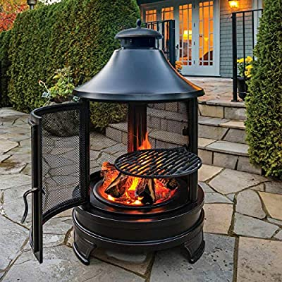 Outdoor Fireplace Chimnea with Grill