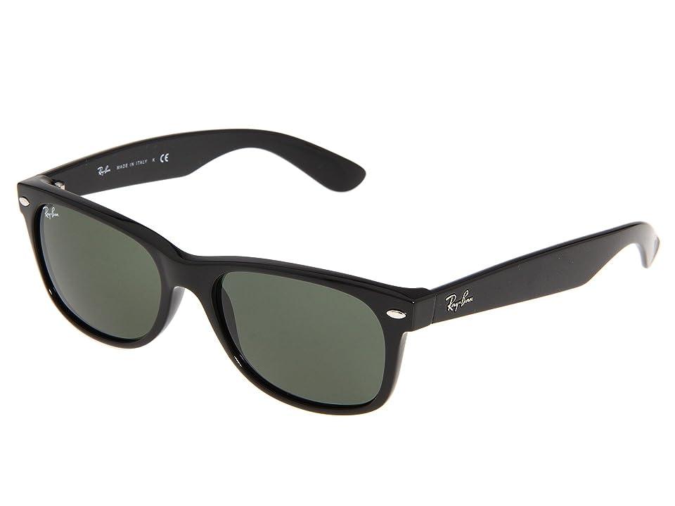 Ray-Ban RB2132 New Wayfarer 55mm (Black/G-15 XLT Lens) Fashion Sunglasses
