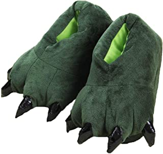 Unisex Peluche Pantofole Animal Costume Paw Claw Shoes Zampa di Dinosauro