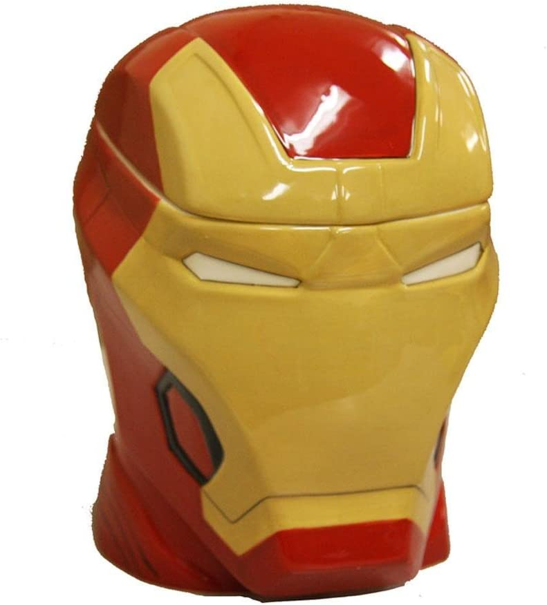 Ironman CP14905 Iron Man Head Molded Cookie Jar, One Size, Multi