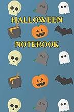 Halloween Notebook: Spooky halloween night notebook | skulls | pumpkins | bones | witches hats | black cat | bats | ghosts | gravestones | cauldrons