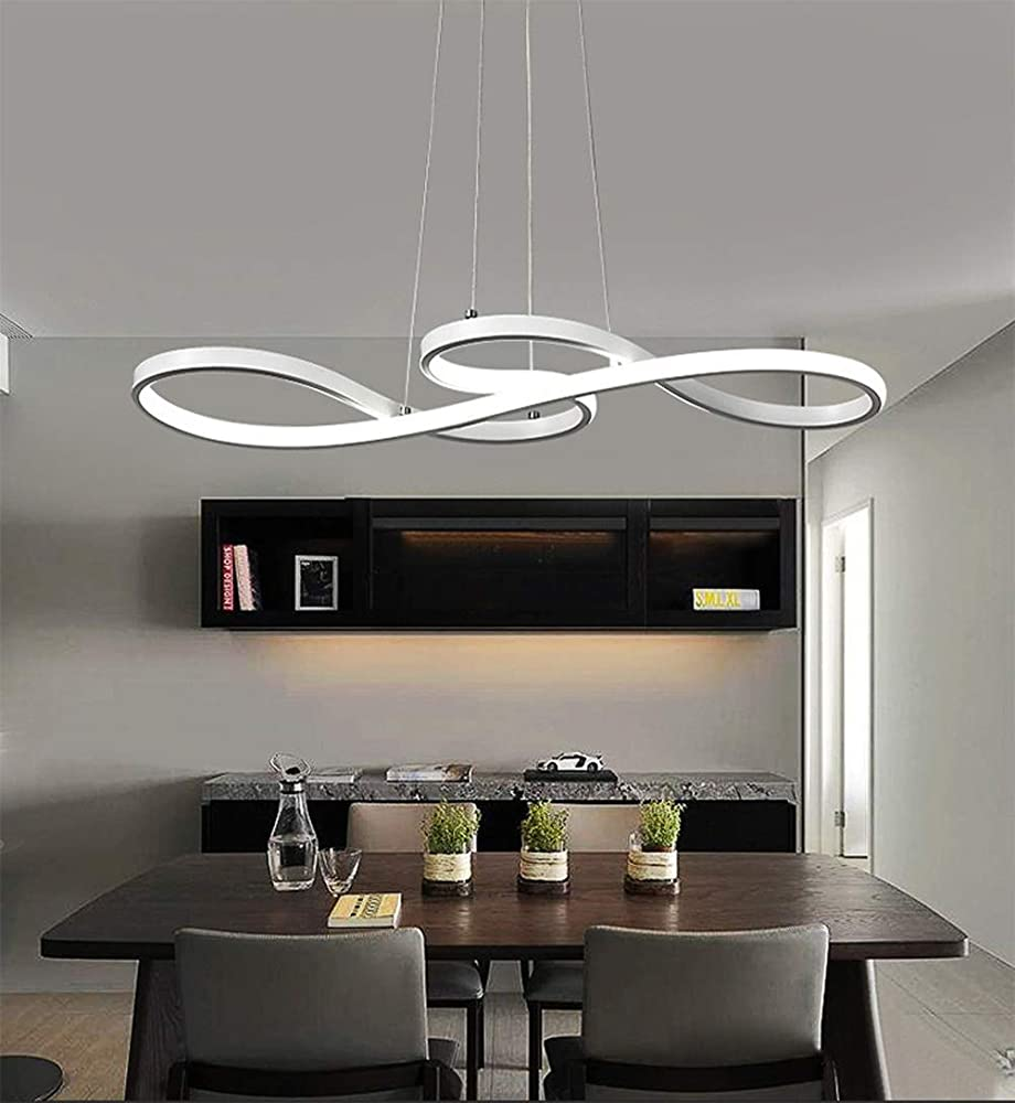 Kuandar chandelier,lampadario led luci dimmerabili,con telecomando