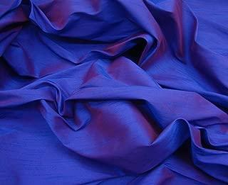 luvfabrics Shantung Dupioni Faux Silk Fabric (Purple, 3 Yards)