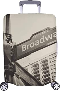 Broadway and West 36th Street Sign New York City Travel Luggage Cover Suitcase Baggage Case Fits 26