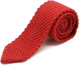 Massi Morino ® Corbata de punto para hombres, corbata cosida a mano en diferentes colores - corbata estrecha de 6cm Slim Fit para hombres