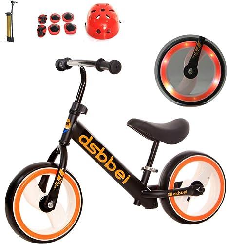 shuhong Kinder Laufrad Lernlaufrad Balance Bike Mit Schutzausrüstung Leichtgewicht Verstellbarer Lenker Und Sitzh  Mehrere Konfigurationen 2-6 Jahre   80-120cm  ,D