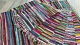 Fleckerl Handweb Teppich Kufstein Multicolor 40x60 60x120 70x140 90x160 130x200 170x240 90x250 90x340 200x300 cm (170x240)