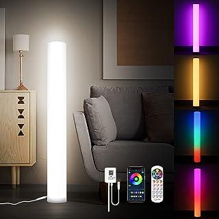 KINGLEAD Lampadaire LED 2 Pièces, Couleur Changeante RGB Clairage Décoratif Angle Lampe avec Télécommande et Bluetooth APP...