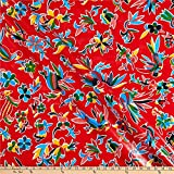 Oil Cloth International 0665437 Oilcloth Aztec Inspired Red