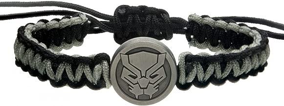Officially Licensed MARVEL, Black Panther Paracorde - Adjustable And Durable Bracelet - 1.8