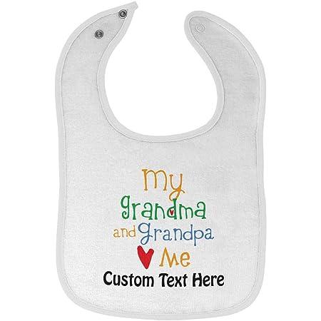 Custom Toddler T-Shirt My Grandpa and Grandma Loves Me Grandparents Cotton