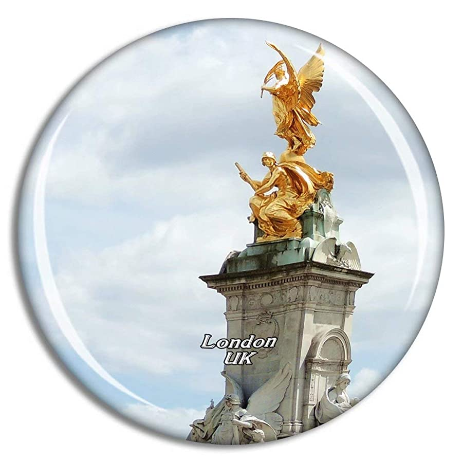 反映するソビエト後退するWeekino 英国イングランドロンドンビクトリア記念碑冷蔵庫マグネット3Dクリスタルガラス観光都市旅行お土産コレクションギフト強い冷蔵庫ステッカー
