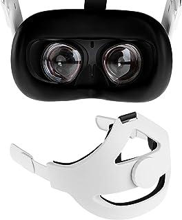 NEWZEROL Sangle de Tête + Couvre-Visage en Silicone [Noir] Compatible pour Oculus Quest 2 [Support Amélioré] Réglable Rédu...