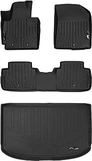 SMARTLINER Floor Mats 2 Rows and Cargo Liner Set Black for 2014-2018 Kia Soul