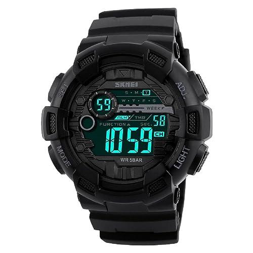 Skmei Multifunction Chronograph Digital Sports Watch For Men (Black)