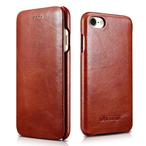 iPhone 8case, Mangix Icarercase [vintage Classic Series] lusso Premium in vera pelle custodia cover posteriore con [ultra slim] per Apple iPhone 811,9cm Earthen