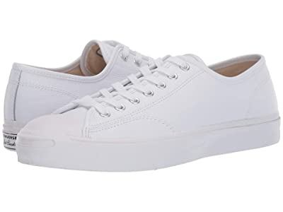 Converse Jack Purcell Gold Standard Leather (White/White/White) Shoes
