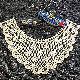 Apliques para coser en el cuello, de algodón, bordados, de encaje, para decoración de vestidos de niños, Hilo de algodón, Como se muestra en la imagen, talla única