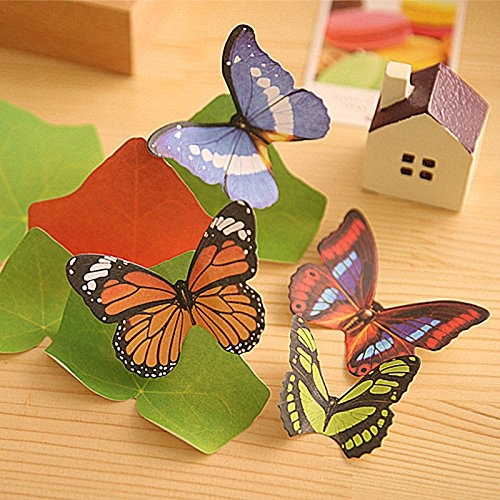 Aimeio Created Emulation 3D butterfly Sticky Note Post-it Note Lovely Memo Note Memo pad Index Tab Notes Wall Stickers for Decoration(240 Sheets/8 Bag)