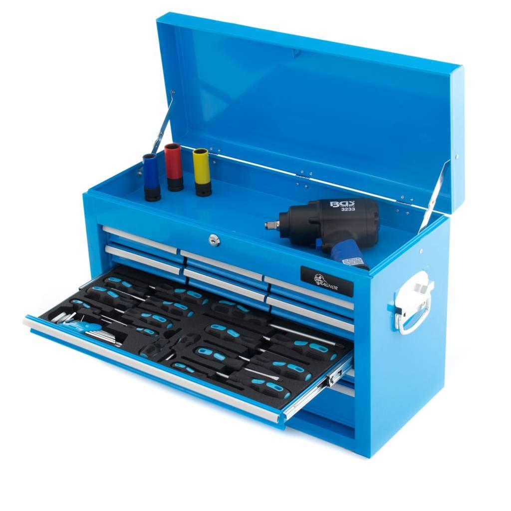 Caja de herramientas de Ragnor azul de 113 piezas con 9 cajones: Amazon.es: Bricolaje y herramientas