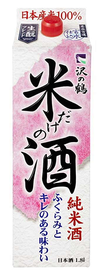 眉をひそめるパス信頼性沢の鶴 米だけの酒 [ 日本酒 1800ml ]