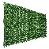 Le criblage Artificiel de Lierre Roule la clôture de haie de clôture d'intimité de Feuille de Lierre