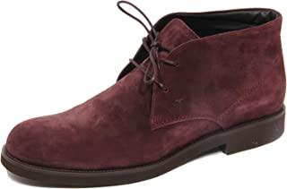 Tod's G2344 Polacchino Uomo Polacco Gomma Light Purple Suede Shoe Man