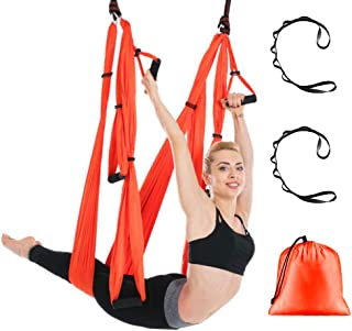DUT Aerial Yoga Swing - Ultra Strong Antigravity Yoga Hammock/Sling/Inversion Tool for Air Yoga Inversion Exercises - Inversion Swing for Beginners & Kids