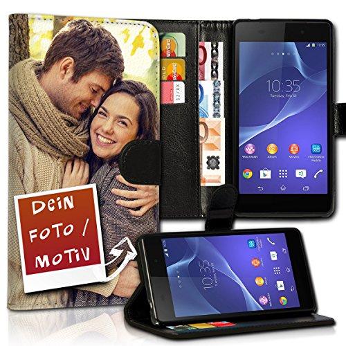 wicostar Book Style Wallet Handy Tasche Hülle mit eigenen Fotos personalisiert für Samsung Galaxy S5 Neo - Design Flip MVDD