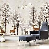 Moderne Wohnzimmerfernsehhintergrundwand des handgemalten nordischen abstrakten Tapeten, die...