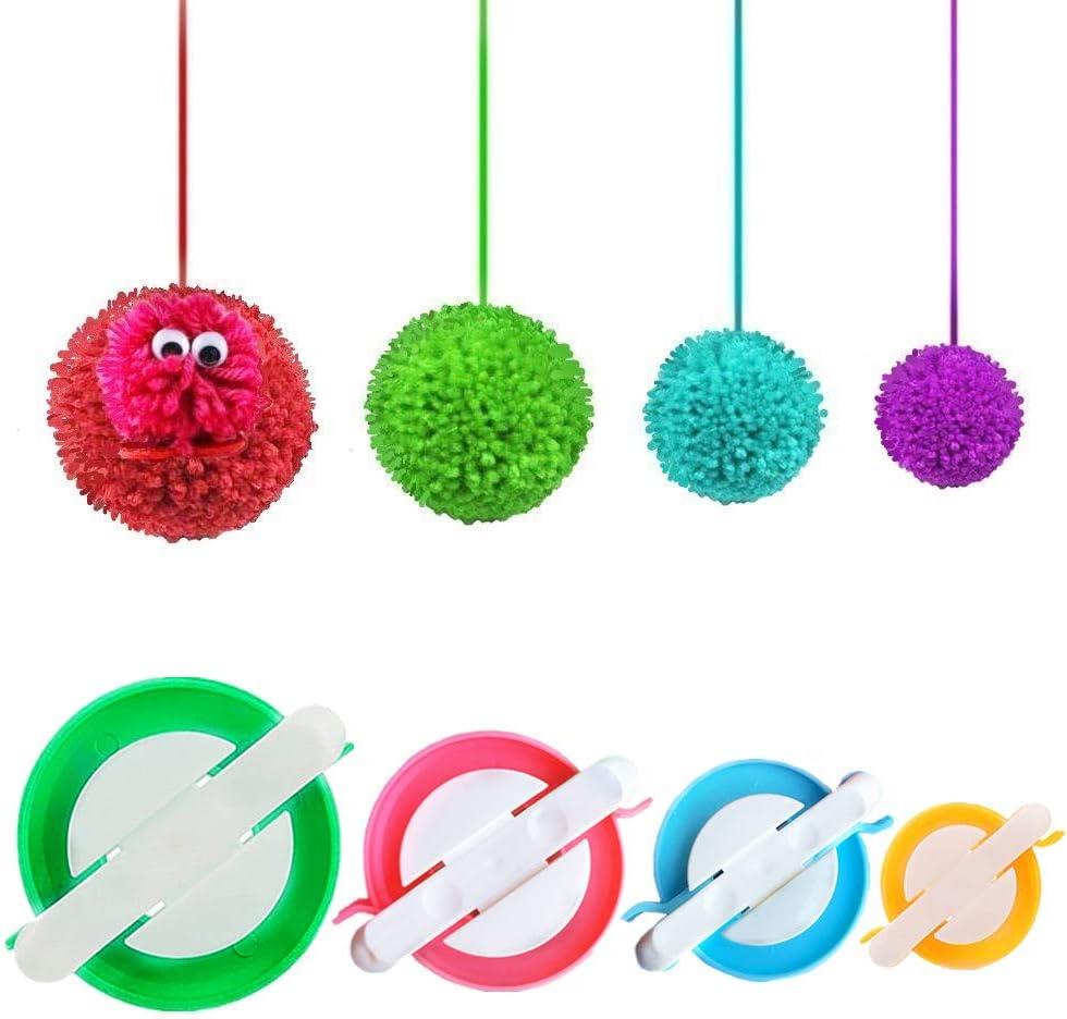 4 half Sizes Pompom Pom-pom Maker for Weaver Craft Fresno Mall Fluff Needle Ball