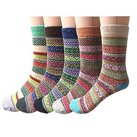 5 Pairs Womens Wool Soft Cabin Socks
